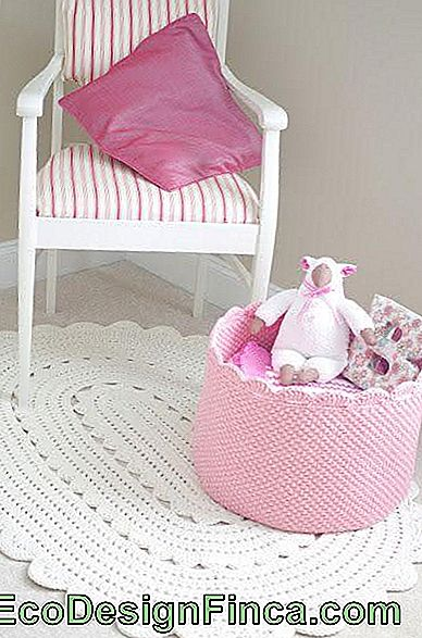 Tappeto all'uncinetto per baby room