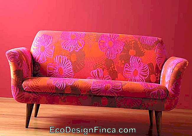 A red and pink jacquard sofa for those who want a decoration full of style and personality
