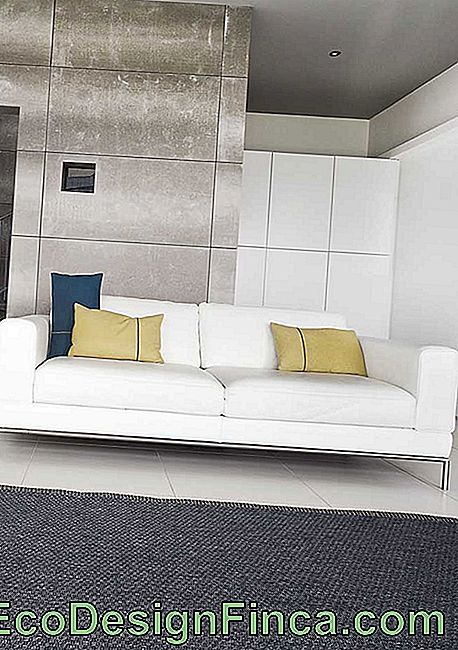 For anyone who loves white sofa, you can invest in a model coated with taffeta