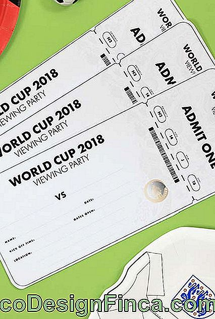 Invitations de fête Coupe du Monde