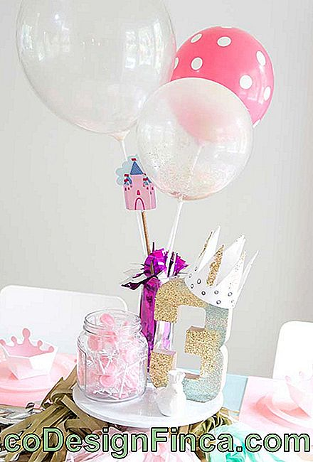 Luftballons in der Party Dekoration Prinzessin