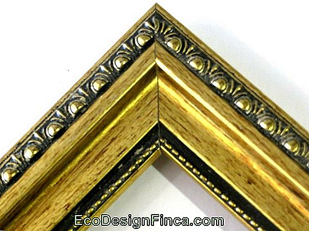 Picture Frame With Gold Patina