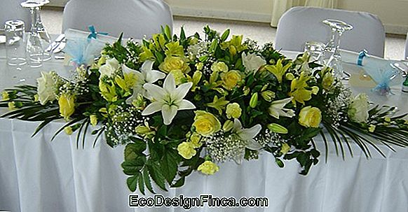 Submerged Flowers Table Arrangement
